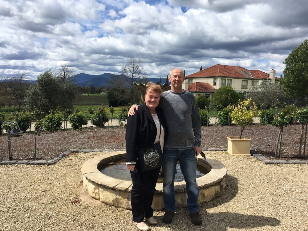 Andrew and Lisa at Tokar Estate Yarra Valley