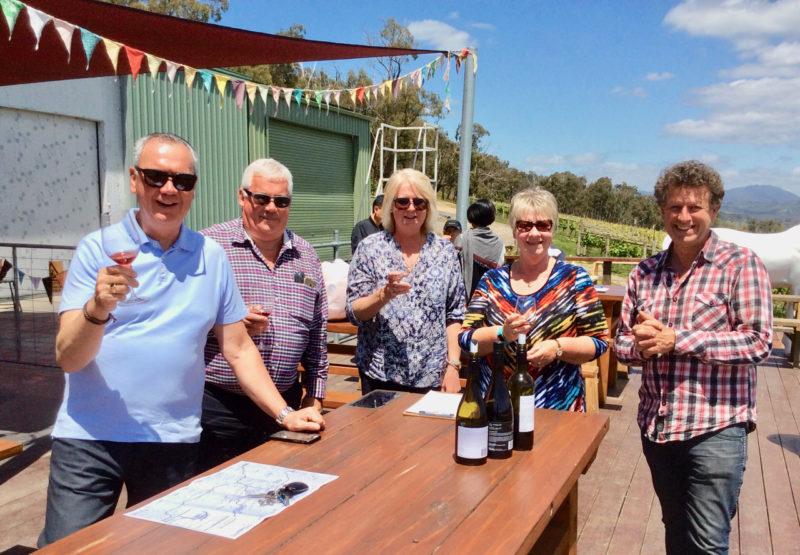 wine tasting at Helen & Joeys Winery Yarra Valley