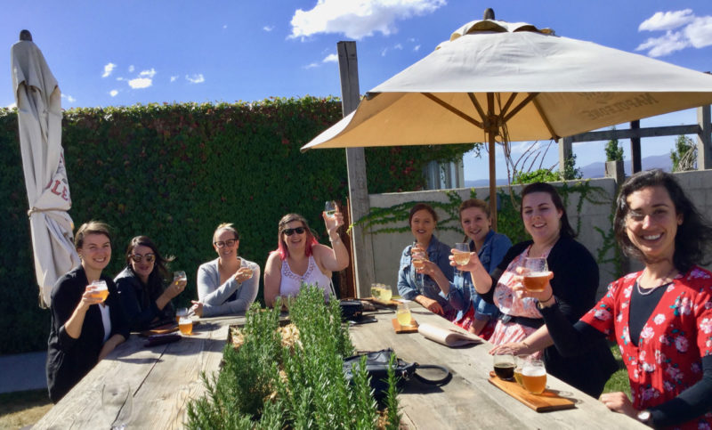 sipping Yarra Valley beer and cider at Meletos